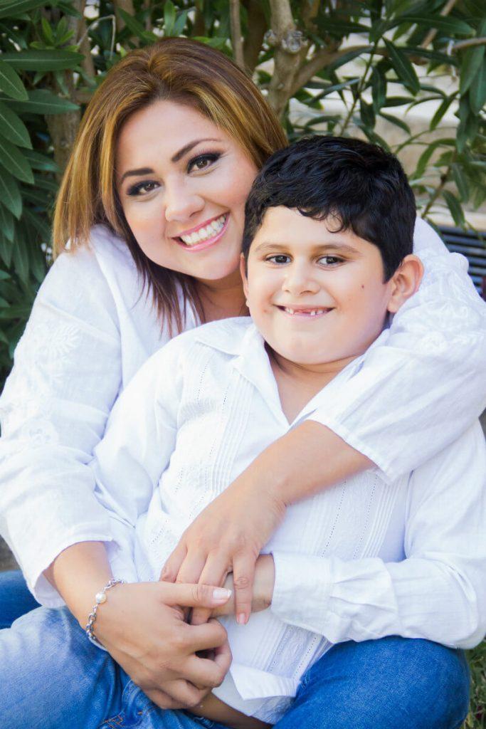 Jenny con su hijo