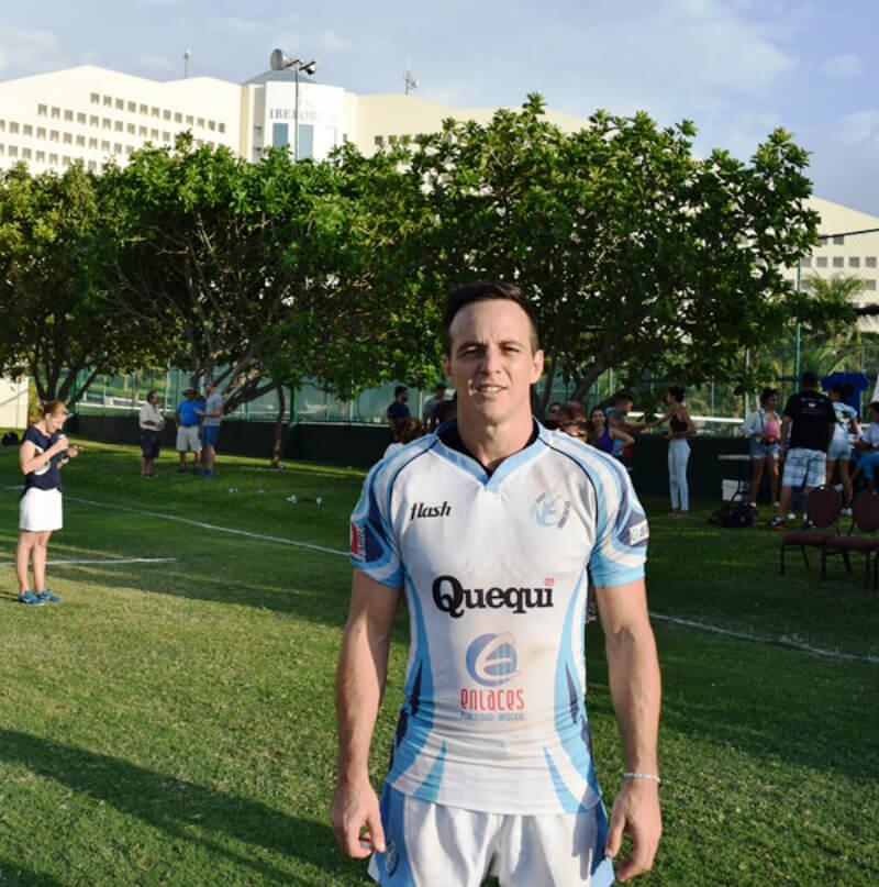 Diego Hidalgo, capitán de Hammerheads Rugby Cancún