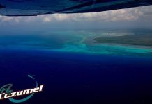 Fly Cozumel aerial view