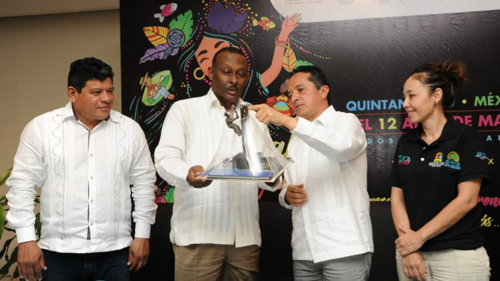 Conferencia de prensa del Festival de Cultura del Caribe 2017 en Cancún