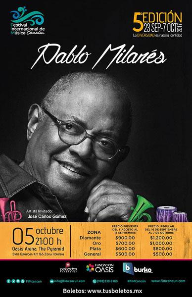 Concierto Pablo Milanés Cancún FIM Cancún 2017