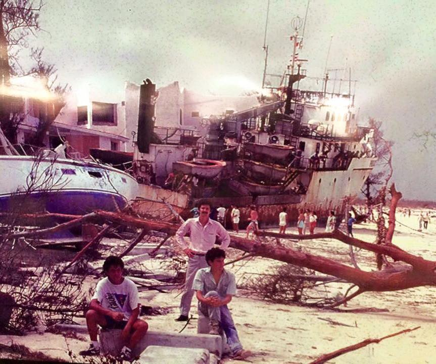 EL Huracán Gilberto daños
