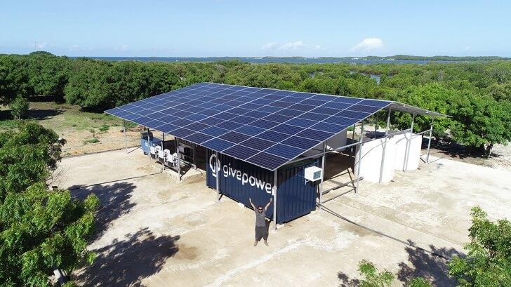 Primera estación de GivePower instalada en Kenia para la potabilización de agua salada