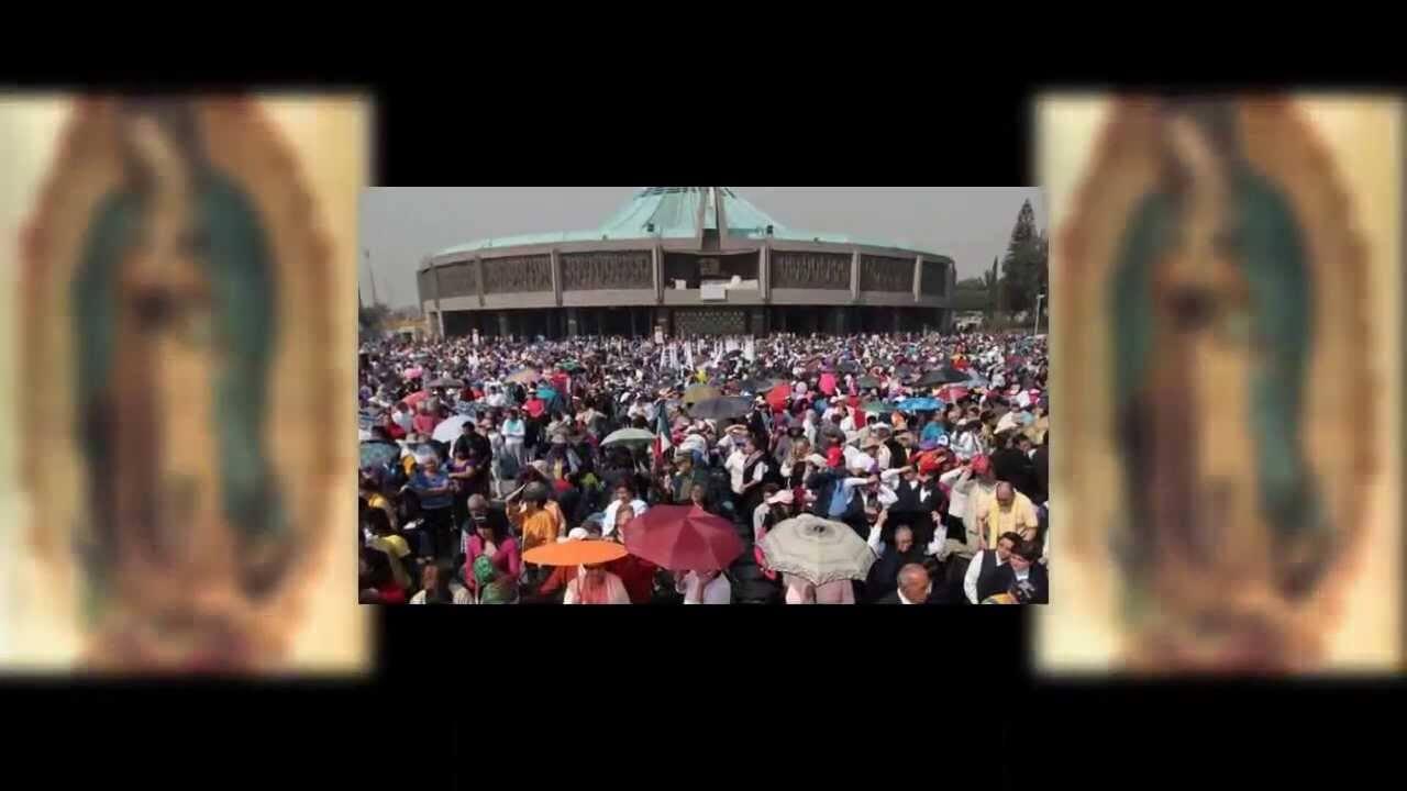Peregrinos visitan la basílica de Guadalupe en México