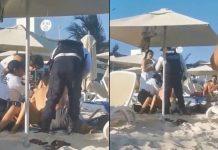 Con una fuerza y brutalidad innecesaria la policía de solidaridad detiene a dos turistas mexicanos