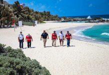 Con rondines, gobierno municipal mantiene la calma y el orden den las playas de la ínsula