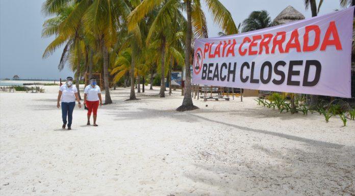 El estado de Quintana Roo mantiene el semaforo en naranja y el municipio de Isla Mujeres sus playas cerradas
