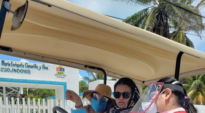 Gracias a filtros instalados en la isla, el gobierno concientiza a la población y al turismo sobre la importancia de utilizar el cubrebocas