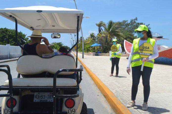 Gorras Amarillas colaborando con las medidas sanitarias y el cuidado de la isla