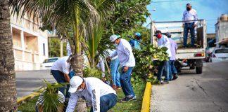 La actual administración, comprometida con mejorar y mantener la buena imagen urbana de Isla Mujeres