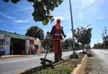 Se mantiene los trabajos de limpieza de calles, avenidas, escuelas y edificios gubernamentales